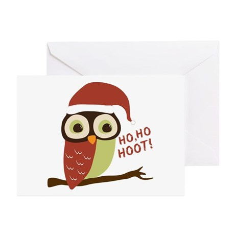 Santa Owl Christmas Greeting Cards (Pk of 20)
