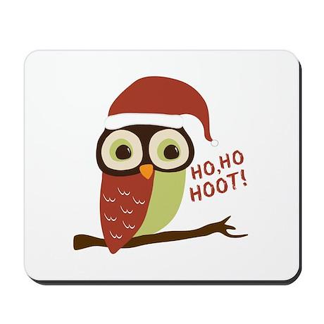 Santa Owl Christmas Mousepad