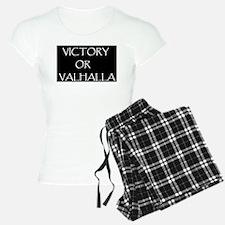 VICTORY OR VALHALLA BLACK Pajamas