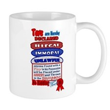 Toys Illegal Declaration Design Mug