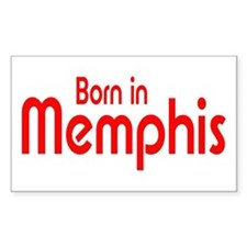 Born in Memphis Rectangle Decal
