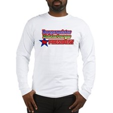 Meister Burger for President Design Long Sleeve T-