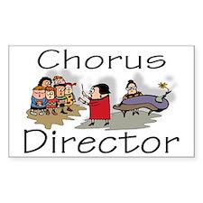 """""""Chorus Director Kids"""" Rectangle Decal"""
