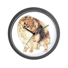 Pomeranian Pom Dog Wall Clock