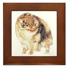 Pomeranian Pom Dog Framed Tile