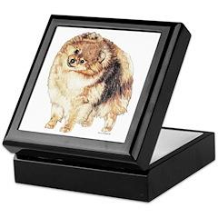 Pomeranian Pom Dog Keepsake Box