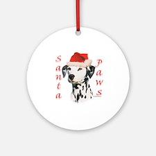 Dalmatian(blk) Paws Ornament (Round)
