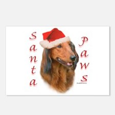 Santa Paws Dachshund Postcards (Package of 8)