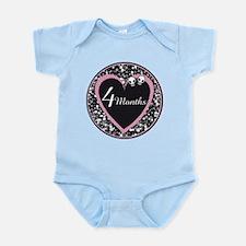 4 Months Rocker Girl Milestone Infant Bodysuit