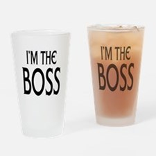 Im the Boss: Drinking Glass