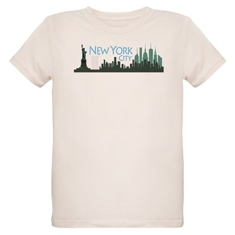 New York City Skyline Organic Kids T-Shirt