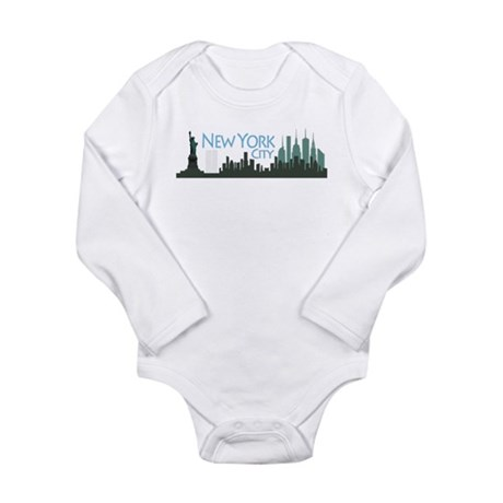 New York City Skyline Long Sleeve Infant Bodysuit