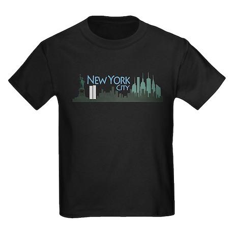 New York City Skyline Kids Dark T-Shirt