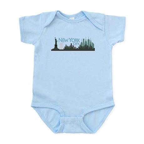 New York City Skyline Infant Bodysuit