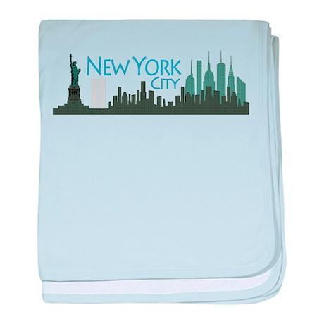New York City Skyline baby blanket