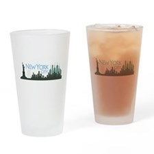 New York City Skyline Drinking Glass