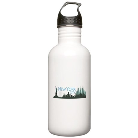 New York City Skyline Stainless Water Bottle 1.0L