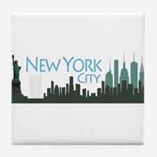 New York City Skyline Tile Coaster