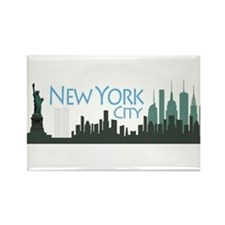 New York City Skyline Rectangle Magnet