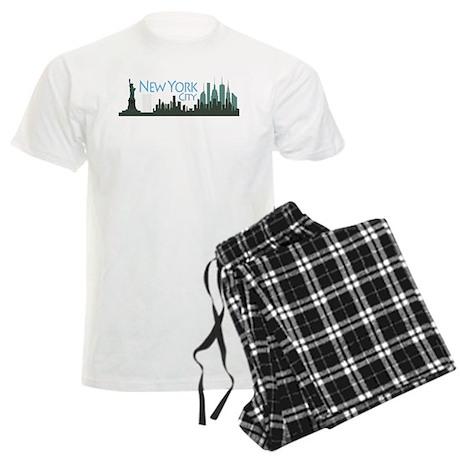 New York City Skyline Men's Light Pajamas