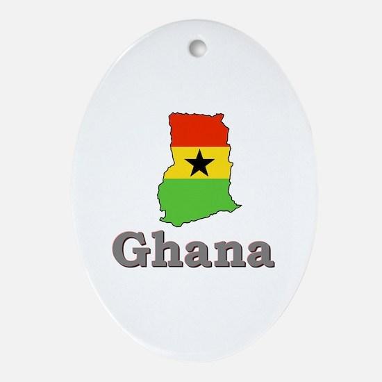 Ghana Goodies Oval Ornament