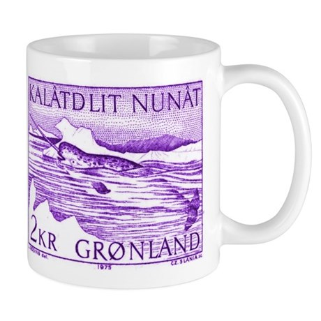 1975 Greenland Narwhal Whale Postage Stamp Mug