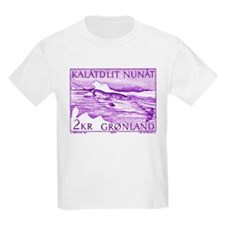 1975 Greenland Narwhal Whale Postage Stamp T-Shirt