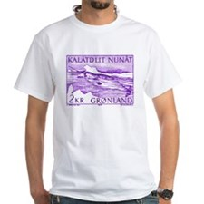 1975 Greenland Narwhal Whale Postage Stamp Shirt