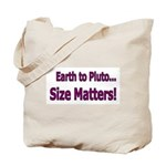Pluto Size Matters! Tote Bag