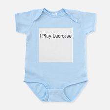 I Play Lacrosse Infant Creeper