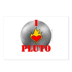 I Love Pluto! Postcards (Package of 8)