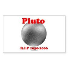 Pluto - RIP 1930-2006 Rectangle Decal