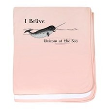 I Believe - Unicorn of the Sea baby blanket