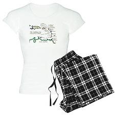 Caribbean Map Pajamas