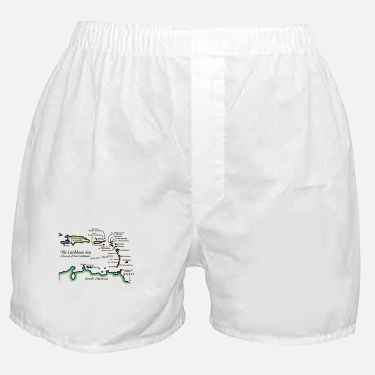 Caribbean Map Boxer Shorts
