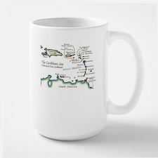 Caribbean Map Large Mug