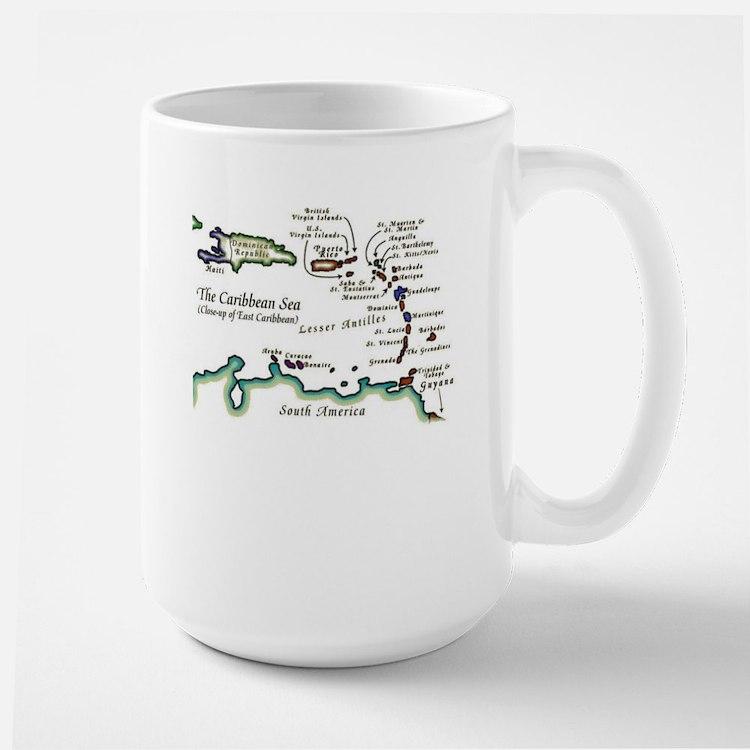 Caribbean Map Mug