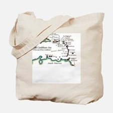 Caribbean Map Tote Bag