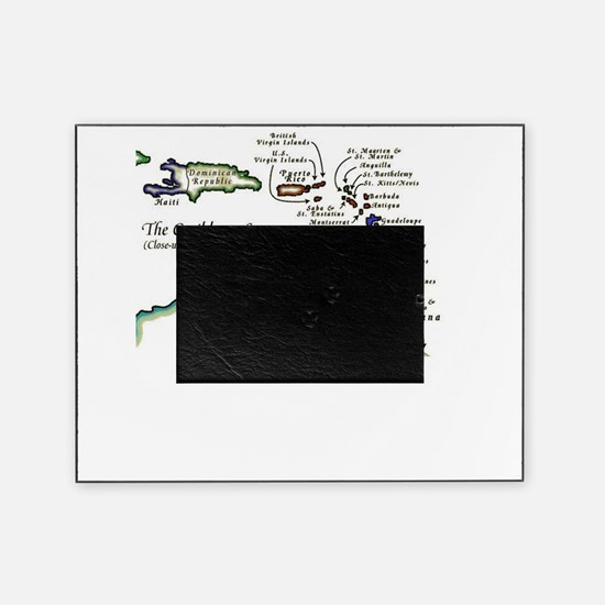 Caribbean Map Picture Frame