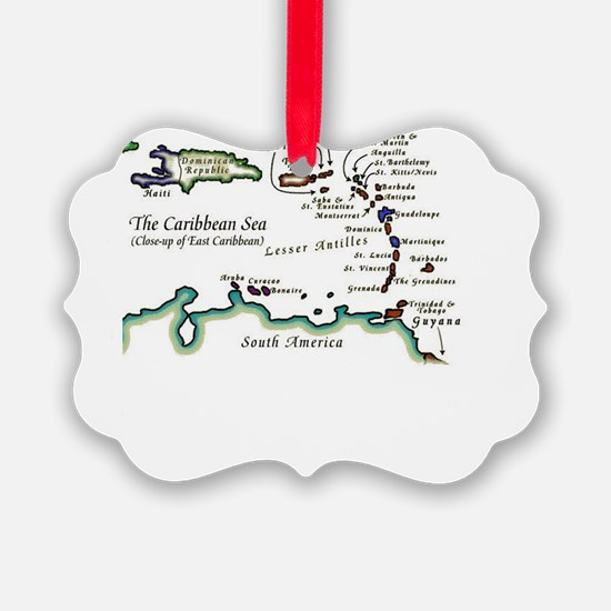 Caribbean Map Ornament