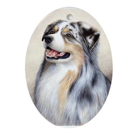 aussie_ollie.png Ornament (Oval)