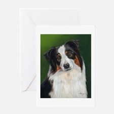Australian Shepherd Tri Greeting Card