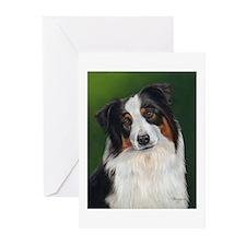 Australian Shepherd Tri Greeting Cards (Pk of 10)