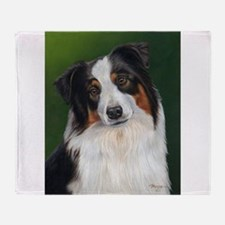 Australian Shepherd Tri Throw Blanket