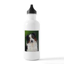Australian Shepherd Tri Water Bottle