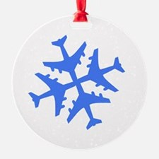 Blue Airplane Ornament