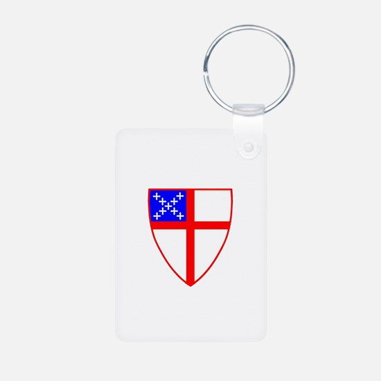 Episcopal Shield Aluminum Photo Keychain
