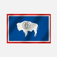 Flag of Wyoming Rectangle Magnet