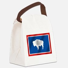 Flag of Wyoming Canvas Lunch Bag