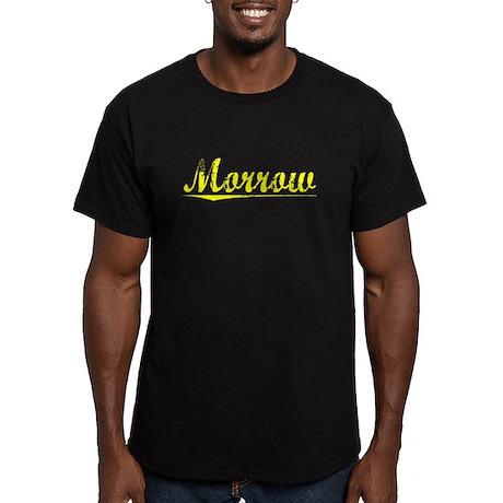Morrow, Yellow Men's Fitted T-Shirt (dark)